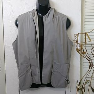 StapleS Jackets & Coats - VINTAGE MEN'S  GREY hoodie vest  staples